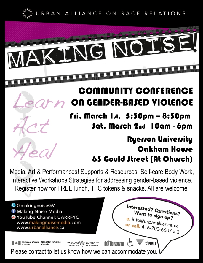 Making Noise Conference Save the Date 2