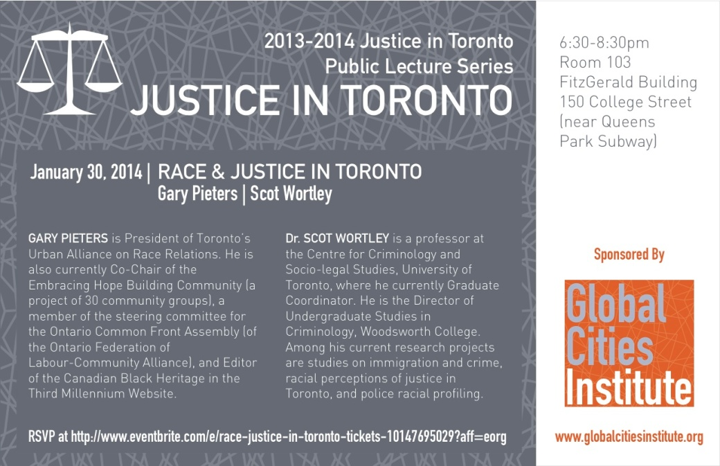 Global Cities Institute Justice-in-Toronto-2014-lectures