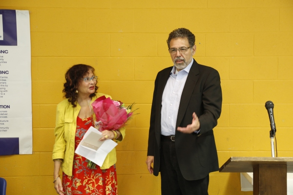 Malika Mendez & BBNC Executive Director Enrique Robert