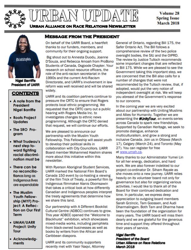 UARR newsletter 2018